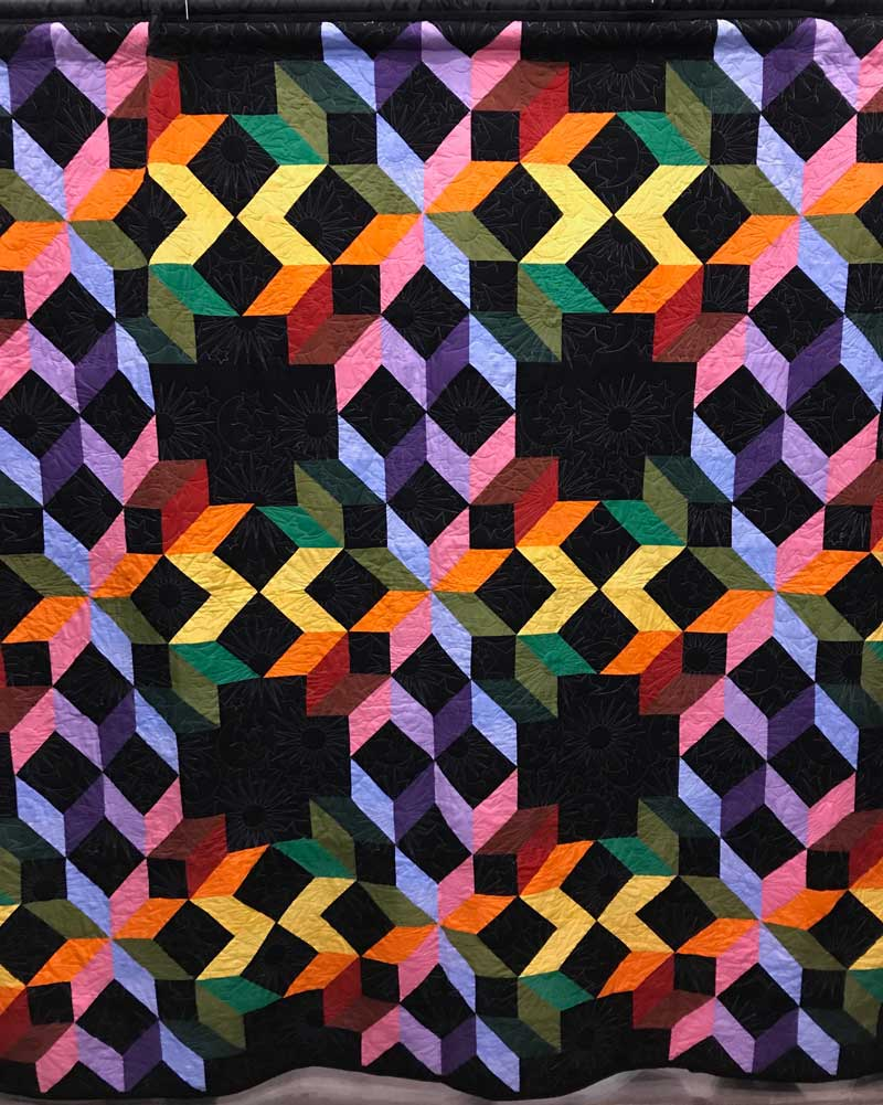 Square in a Square, 46 in. x 80 in., by L.R --Quilt from the We Are Somebody Quilting Program exhibit Just 4 U at the Mid-Atlantic Quilt Festival