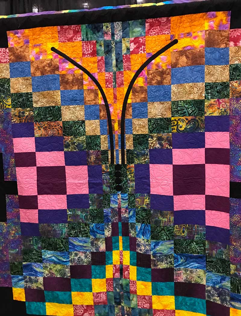 Quilt from the We Are Somebody Quilting Program exhibit Just 4 U at the Mid-Atlantic Quilt Festival