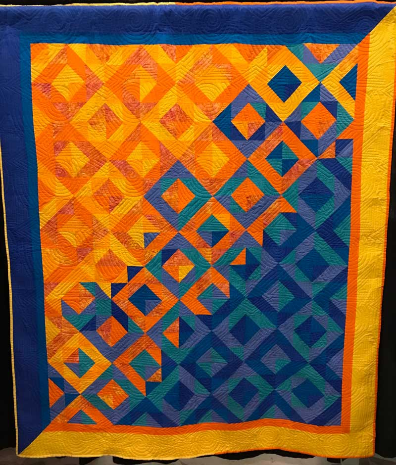 Fading, 78 in. x 88 in. by J.M. -- Quilt from the We Are Somebody Quilting Program exhibit Just 4 U at the Mid-Atlantic Quilt Festival