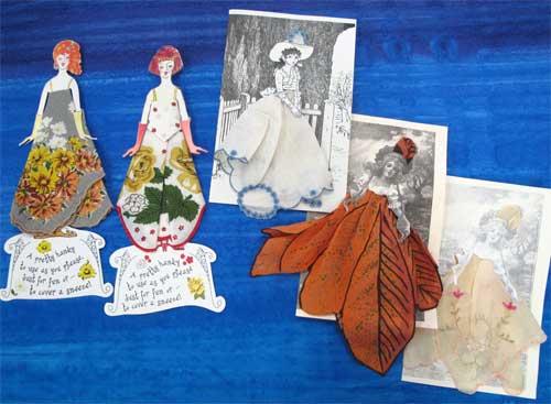 Vintage handkerchief cards