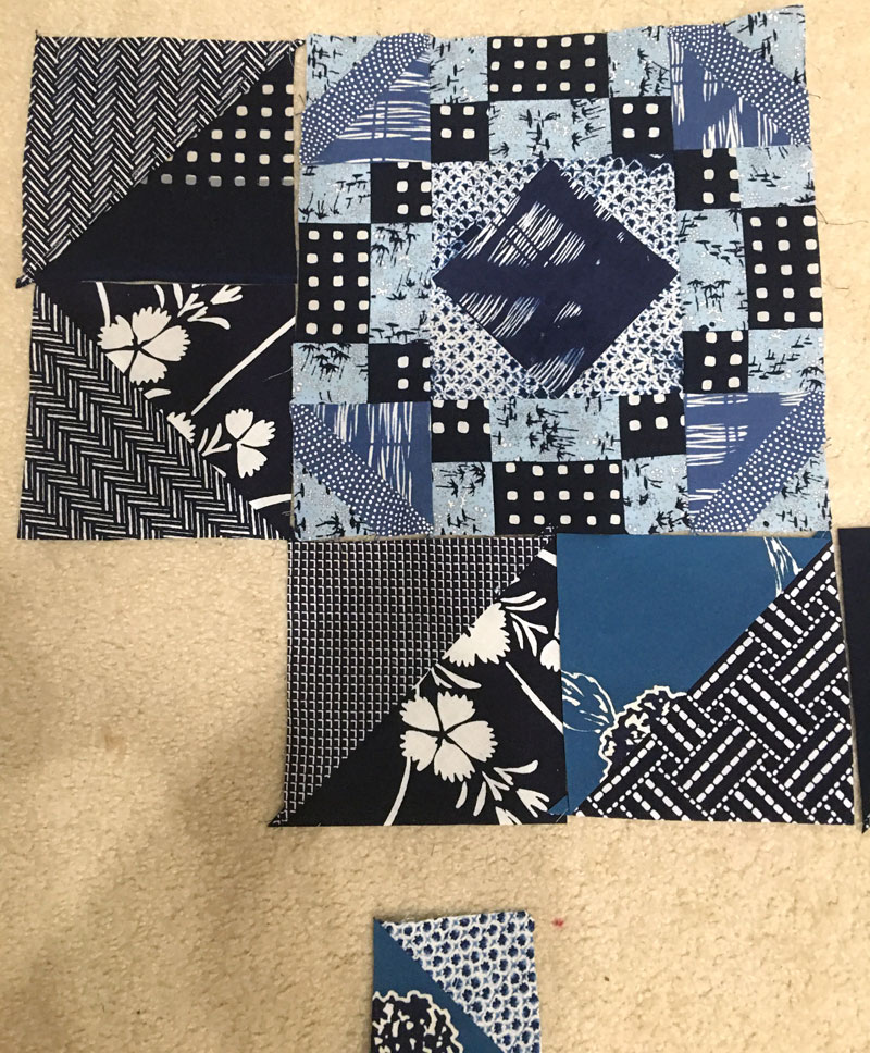 Blocks by Virginia Aribe incorporated into the quilt