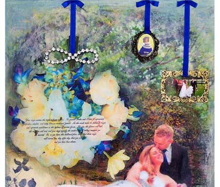 Mixed media collage by Wendy Sittner