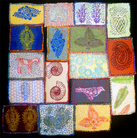 Slow Stitch Outsider Art Quilt by Judy Gula -- click for larger view