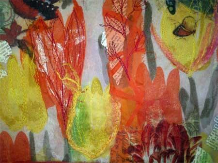 Detail, sheer tabletop screen by Judy Gula