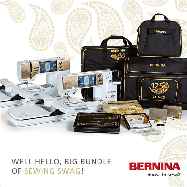 The exclusive BERNINA 125th Anniversary gifts with purchase package
