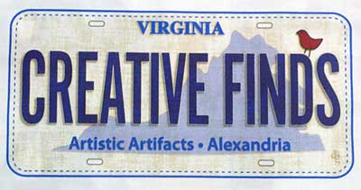 Creative Finds, the 2016 Row by Row license plate for Artistic Artifacts