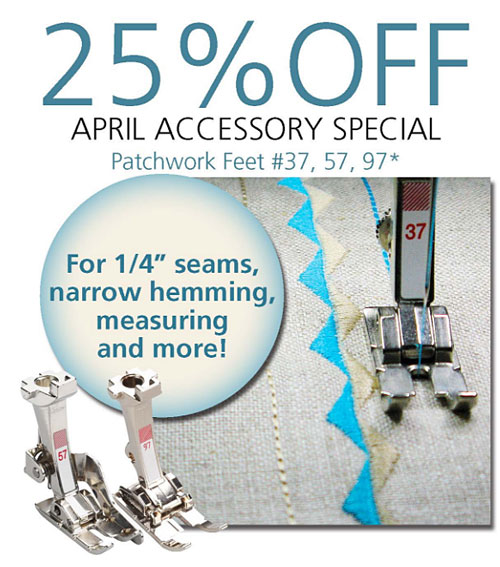 April 2018 Accessory Special — 25% Off Patchwork Feet!
