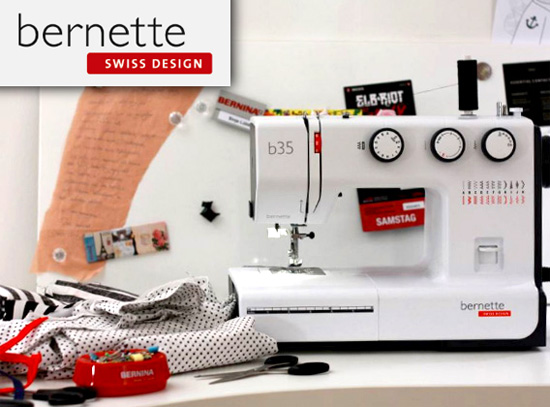 Sew like a pro with Swiss design and an attractive price with your choice of bernette models