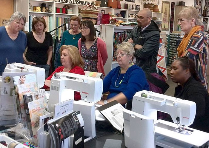 A BERNINA Mastery class in progress at Artistic Artifacts
