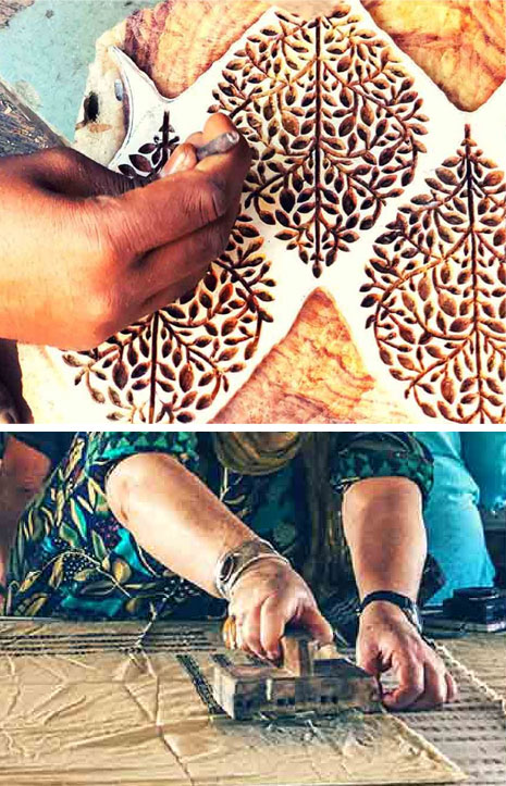 Enjoy several block printing workshops with Indian artisans in genuine factories