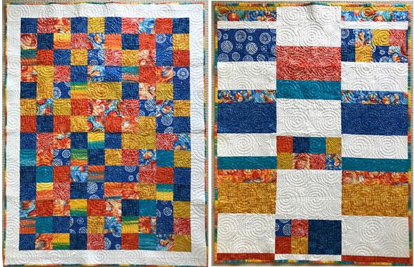 Artistic Artifacts Bright Batik Block Quilt