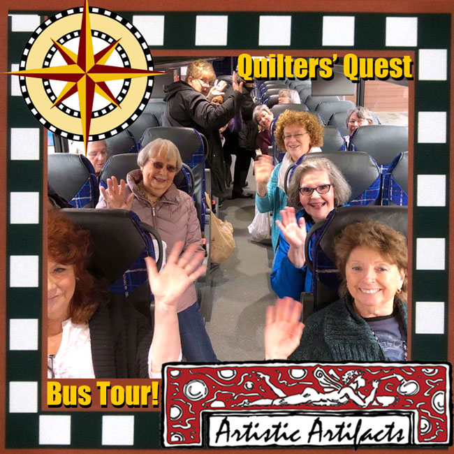 Sign up for our bus tour of each Quilters' Quest shop!