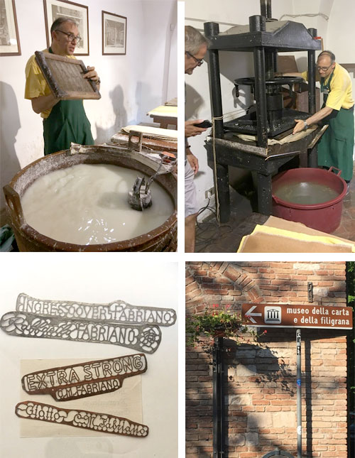 Private tour and demonstration on paper making in Fabriano, Italy