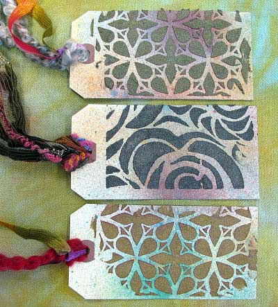 Tags created using Ferro Special Effects Paste (sample by Judy Gula)