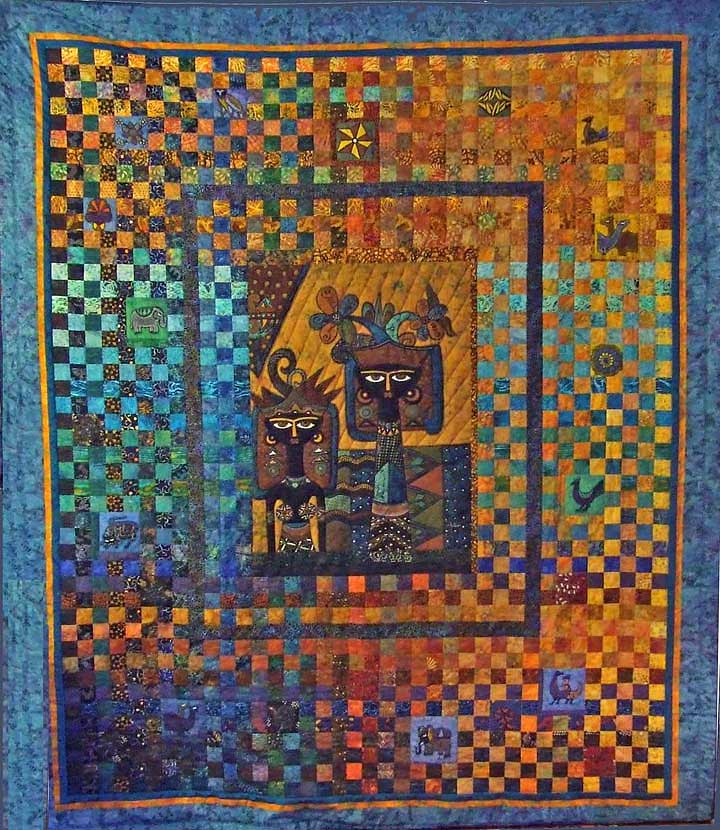 ... various batik panels and featuring a center panel by batik artist jaka