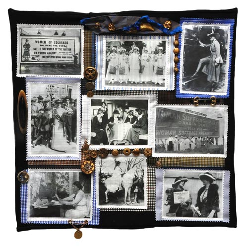 One of two Suffragette-themed art quilts created by Judy Gula
