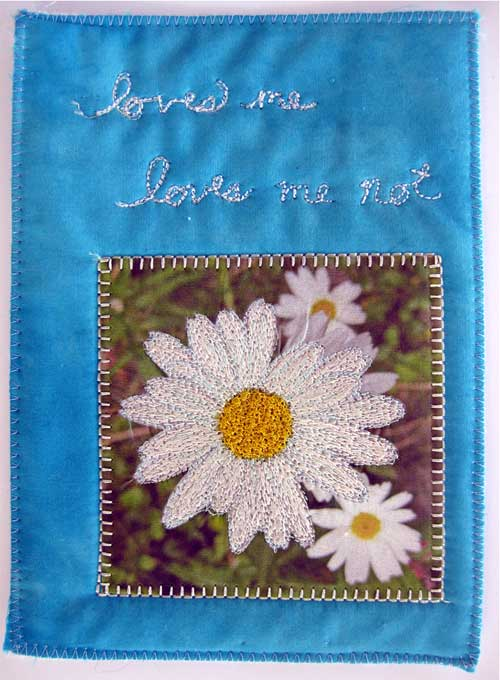 Thread painting by Liz Kettle, one of the skills taught in Stitch Journeys