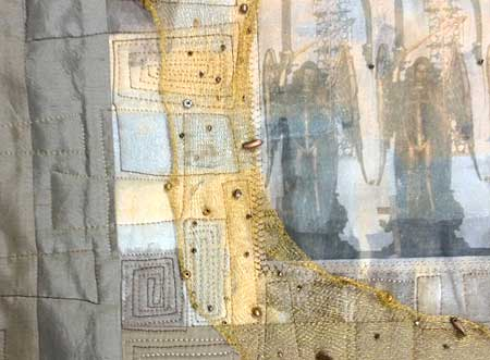 Art quilt using WireLace by Artistic Artifacts owner Judy Gula
