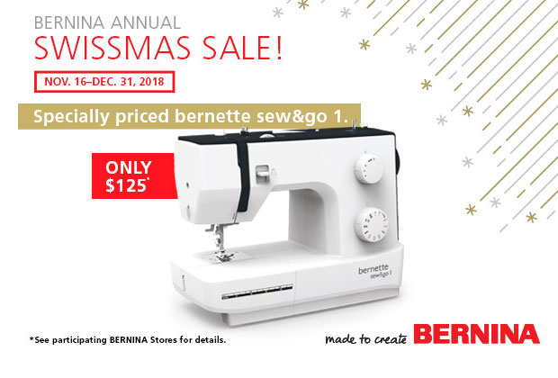 Specially priced bernette sew and go 1, just $125