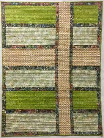 Artistic Artifacts Wide Stripes Batik Lap Quilt