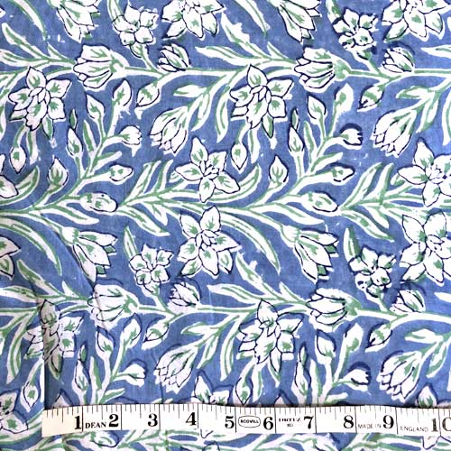 Handmade Block Printed Fabric From India Artisticartifacts Com