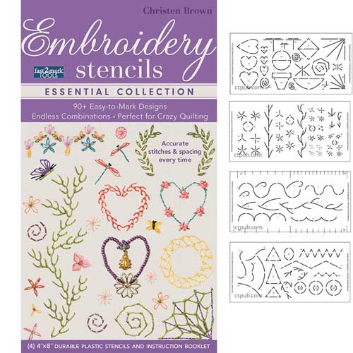 embroidery stencils essential collection by christen brown