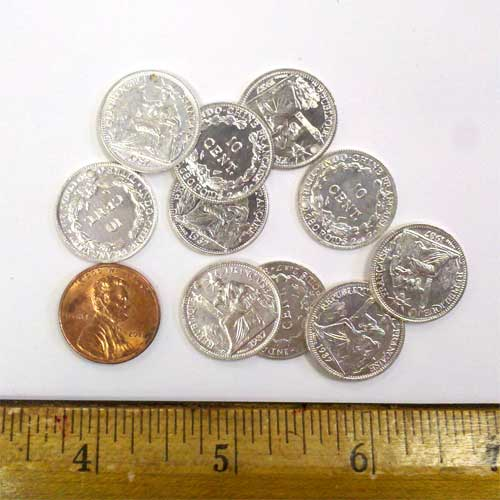 Drilled Silver Coins Small