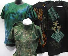One of a kind batik t-shirts by Batik Tambal