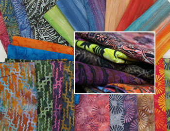 Batik Tambal fabrics--our Exclusive batiks and Combanasi Fabrics
