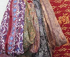Silk scarves from Batik Tambal
