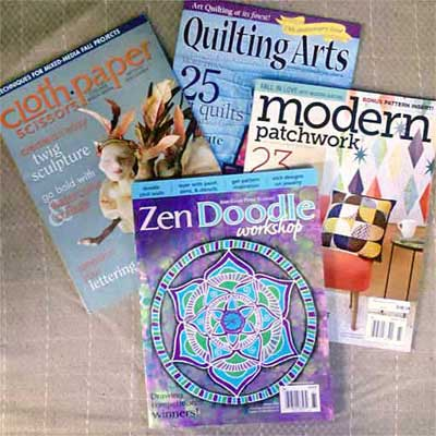 Mixed Media and Fiber Arts Magazines on sale at Artistic Artifacts