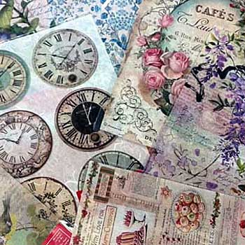 Stamperia Rice Paper Sheets for collage and more